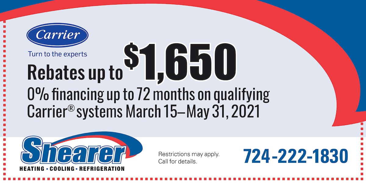 Carrier Rebates up to ,650 | March 1 - May 31, 2021