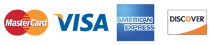 Credit Cards Accepted | MasterCard, Visa, American Express, Discover