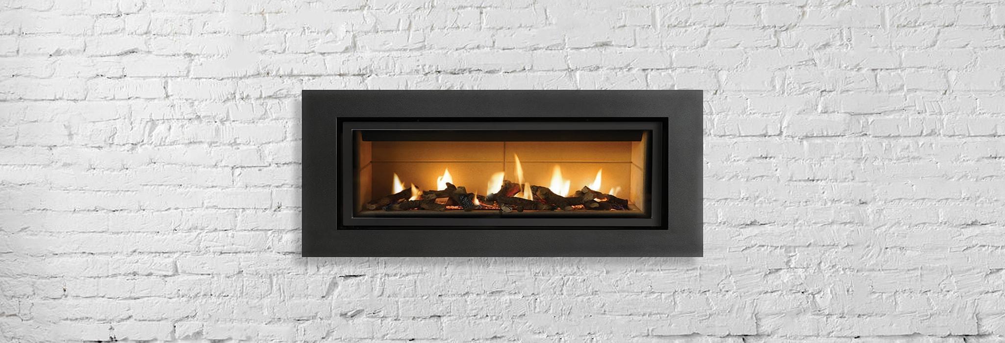 Gas fireplace service.